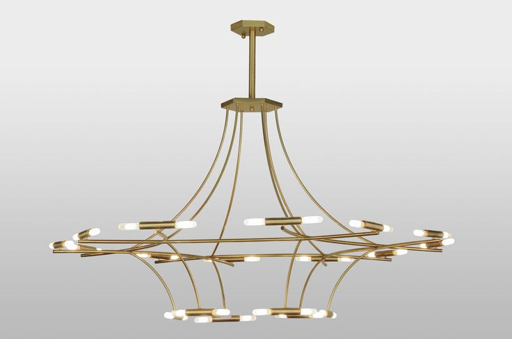 87 Inch W Ison 36 Lt Chandelier. 87 Inch W Ison 36 Lt ChandelierThe centripetal force physics of Isaac Asimov. ISONwas designed and crafted from lustrous Solid Brass.Innovative contemporary lighting design incorporateswarm illumination provided by medium base glass encasedcarbon T10 elements and hardware featured in a NaturalBrass finish. Hand made by Meyda artisans in our manufacturing facility in Yorkville, NY. Theme:  LODGE CONTEMPORARY Product Family:  ISON Product Type:...