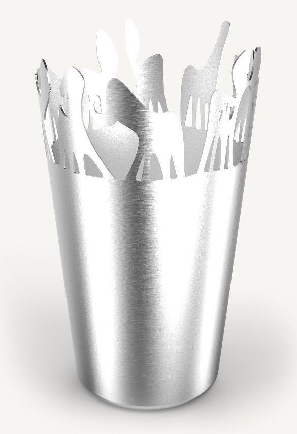 Steelforme Herd Flower Vase - 3.7 x 7.9 Inch