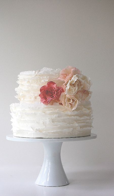 ruffle love - rose gold, grey and white roses rather than pinks