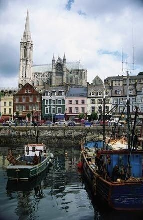 Cork, Ireland.  My first glimpse of Ireland looked like this – rows of brightly colored houses along the water