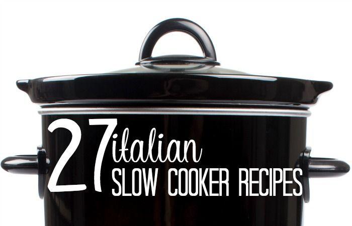Italiano-olla de cocción lenta-Recetas