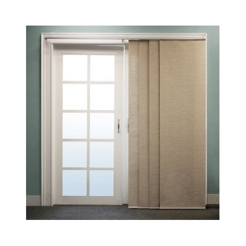 Sliding privacy shade panel set door window drape curtain for Patio doors with side panels