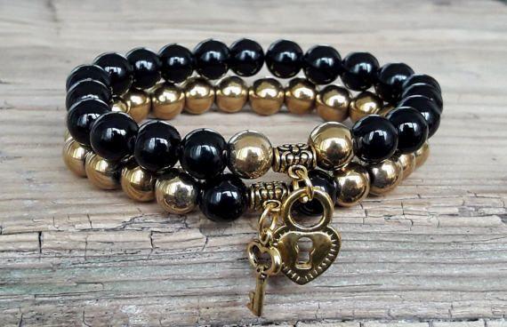 Couple bracelets lock and key unisex couple от HarmonyLifeShop