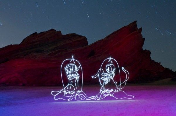 painting with light by Darren Pearson
