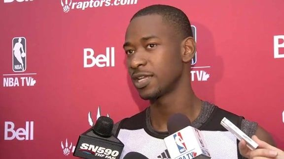 Terrence Ross on nearly feeling like a vet after Day 3 of #Raptors Training Camp.