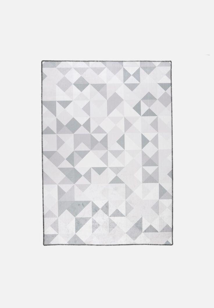 Grey Geo Printed Rug
