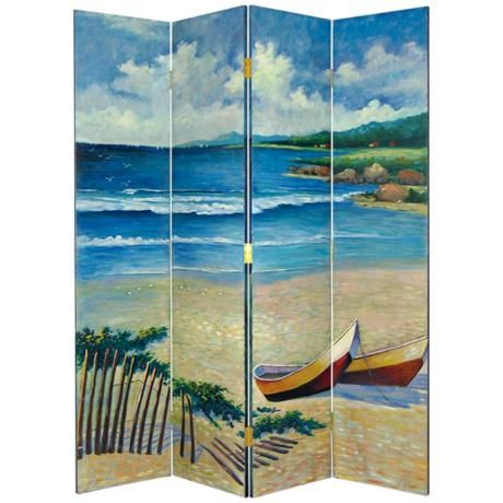 Lowest Price Online On All Wayborn Hand Painted The Beach Room Divider 2255