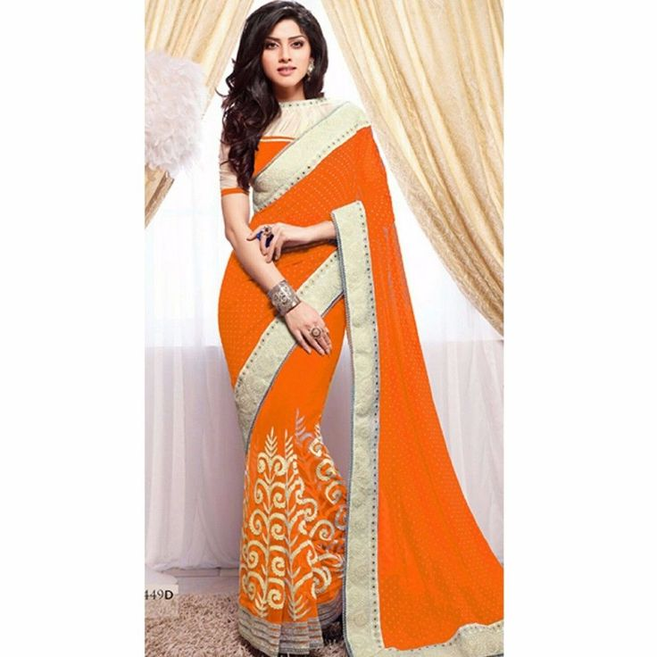 NEW BOLLYWOOD ETHNIC INDIAN PARTY WEAR SARI DESIGNER PAKISTANI TRADITIONAL SAREE #Handmade #DesignerSari #WeddingEngagementPartyFestivalDatingKittyParty