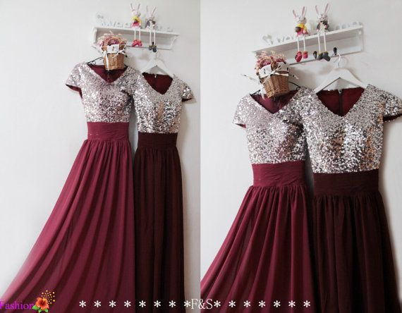 Burgundy Prom DressSexy Prom Evening Formal by FashionStreets
