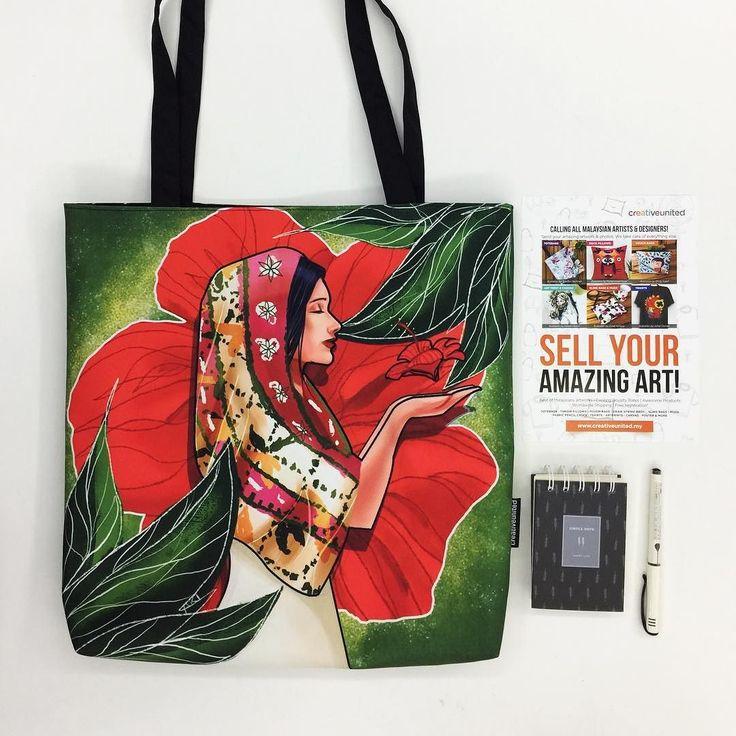 'RADAH SERAYA' oleh @akirahmat di Creative United. Dapatkan illustrasi yang cantik ini di #totebag #pouchbag #slingbag #pillow #mug #pencilcase dan lain-lain produk harian dan home dekor yang menarik di sini: http://ift.tt/2m50SXr . Pembelian secara online yang cepat dan mudah atau PM kami untuk tempahan. . Klik link di bio @creativeunited.my untuk melihat pelbagai lagi karya-karya hebat oleh artis pelukis dan pereka indie tempatan di art marketplace terbesar di Malaysia! Follow kami untuk…