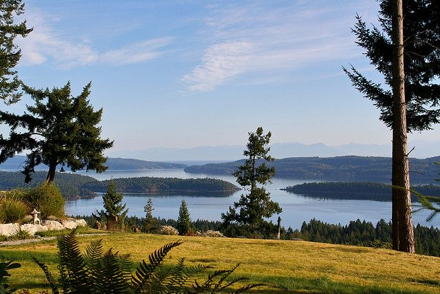 View from the top of Salt Spring Island