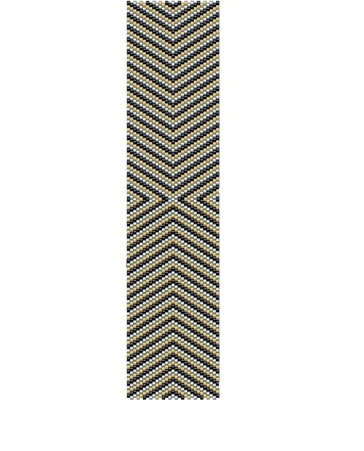 Geometric peyote pattern -seed beads peyote cuff pattern (Buy 2 patterns, Get 1 Free). $3.50, via Etsy.
