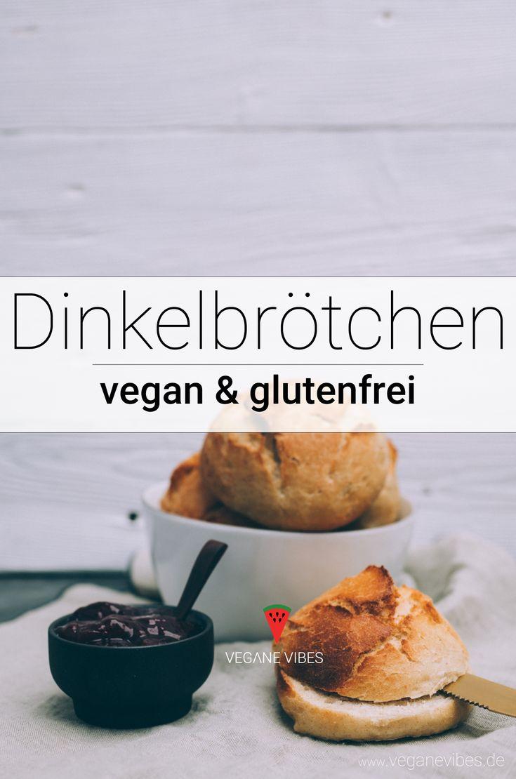 vegane Dinkelbrötchen selbst gemacht Rezept – Mehr vegane Rezepte unter: www.di…