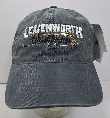 Leavenworth Washington Hat Cap Prefade USA Embroidery Fly Fishing New #grf