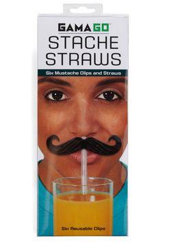 Mustachioed Refreshment Straws, #ModCloth