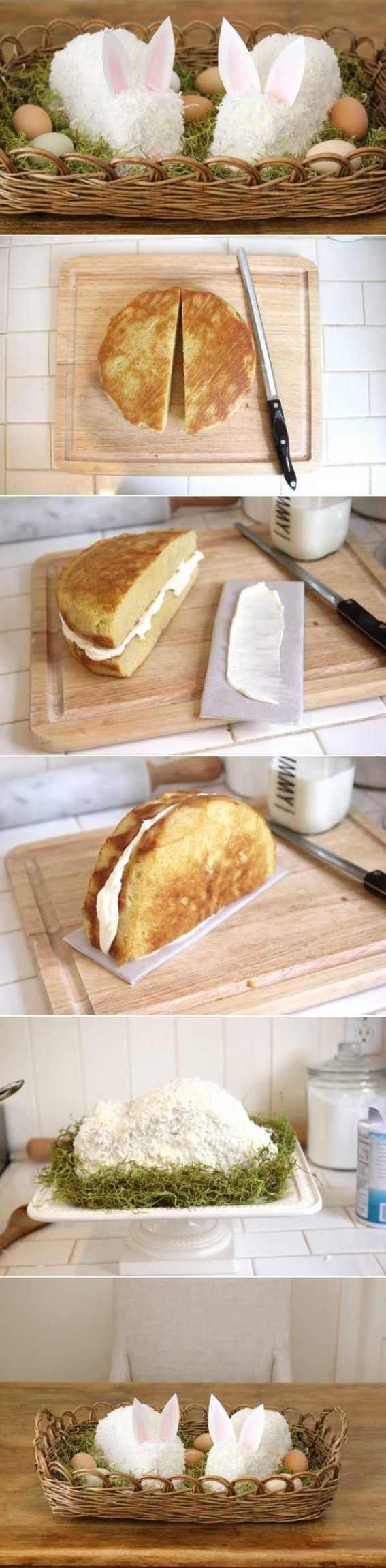 DIY Easter Bunny Cake