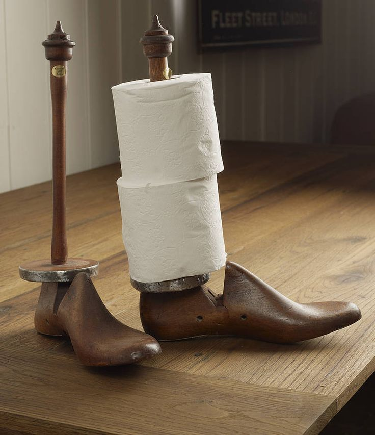 shoe last kitchen roll holder by the original home store   notonthehighstreet.com