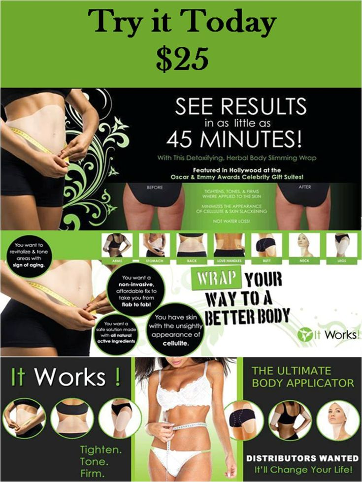 Have you tried that crazy wrap thing?!?! Check out my website for more info.... www.wrappinwithkelly.myitworks.com