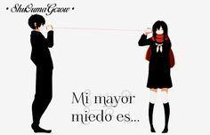 Mi mayor miedo #ShuOumaGcrow #Anime #Frases_anime #frases