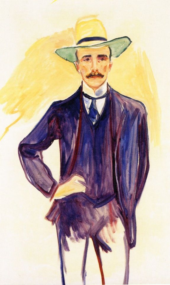 Harry Graf Kessler.1906 by Edvard Munch