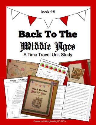 The Middle Ages: A Time Travel Unit Study This unit provides a general overview of daily life in the Middle Ages in an engaging way that presents the information as a fun narrative. Students are transported back in time to the Middle Ages and produce a hands-on notebook with interactive components. They follow the diary entries of an archaeologist, creating crafts, foldable notes, and other activities for each entry and topic.