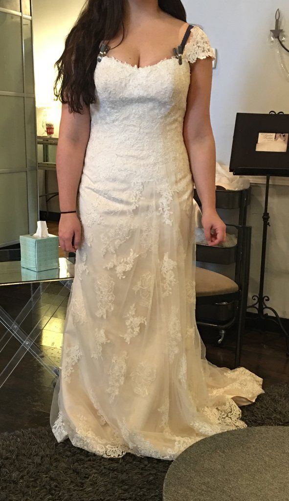 4a10a6cb9ba Maggie Sottero  Joelle  size 8 sample wedding dress front view on bride