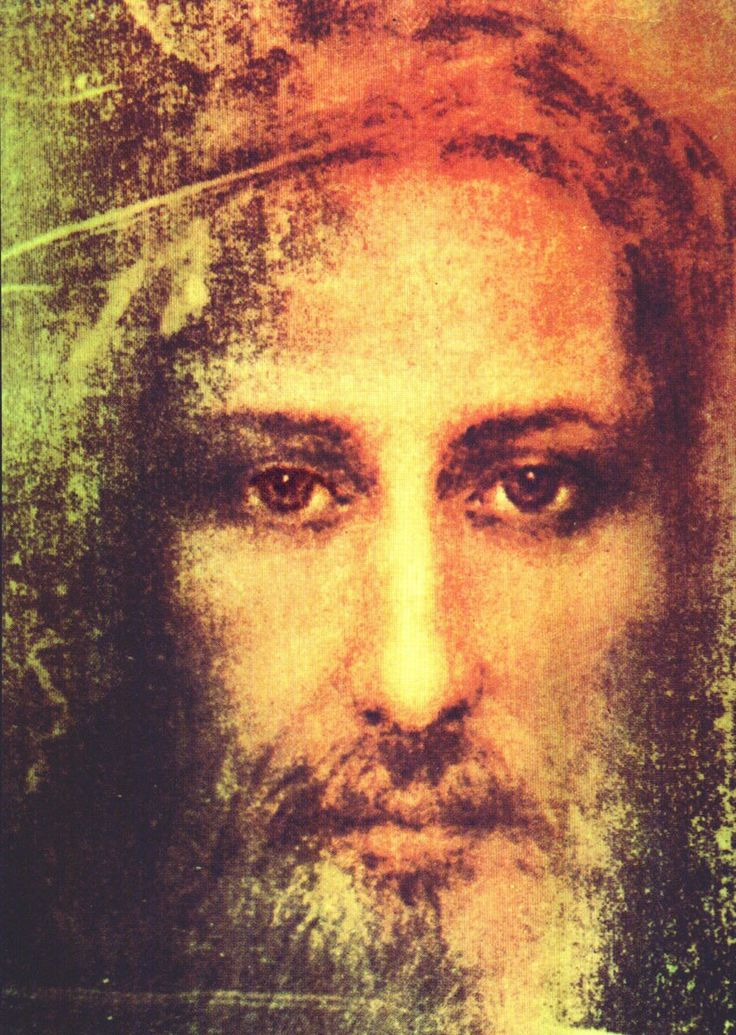 Jesus the Messiah - Shroud of Turin eyes opened and color added. The burned image into cloth at the resurrection power of God. SHROUD of Turin is PROVEN with the SUDARIUM video: '> Physical Evidence of Jesus Christ' (3 videos)
