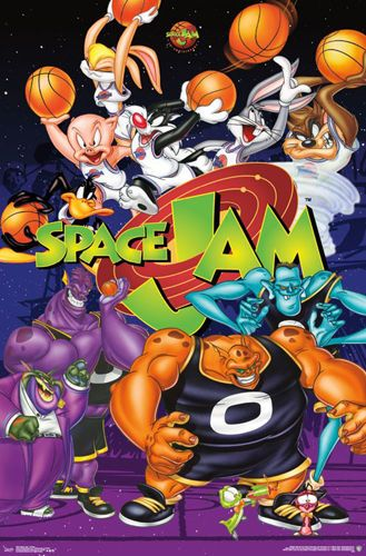 New SPACE JAM Toon Squad vs. Monstars 20th Anniversary Commemorative Wall POSTER