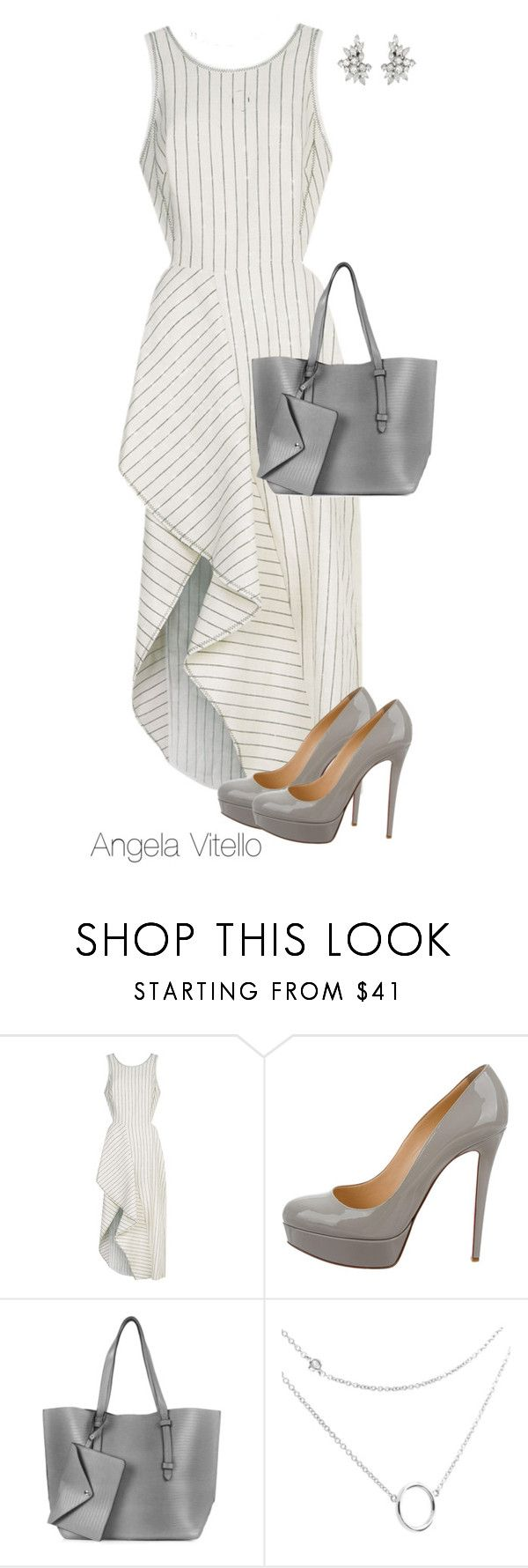 """""""Untitled #725"""" by angela-vitello on Polyvore featuring 3.1 Phillip Lim, Christian Louboutin and Topshop"""
