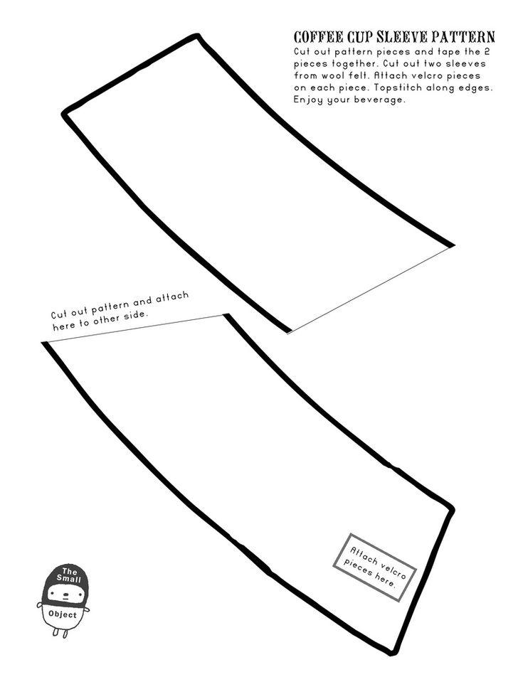 coffee cup sleeve pattern