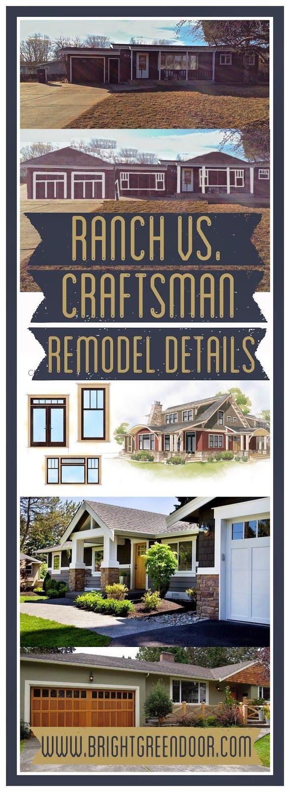 Ranch vs Craftsman Remodel Details 12 best