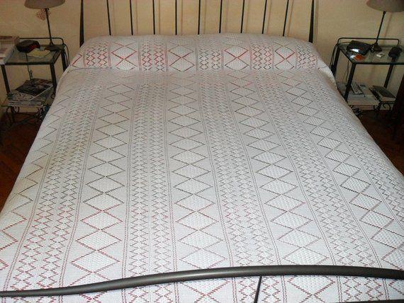 Copriletto Matrimoniale Fatto A Mano.Handmade Double Crochet Bedspread Centrini Copriletto Fatto A