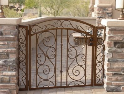 Courtyard Entry Gate With Big S Amp Small S Scrolls In 2019
