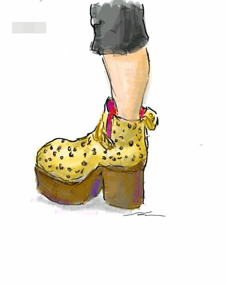 It is a sketch of platform shoes leopard print. I drew while commuting on a train with the GALAXY Note.