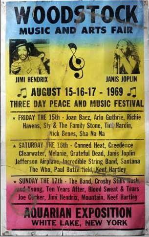 Music Festival Woodstock 1969