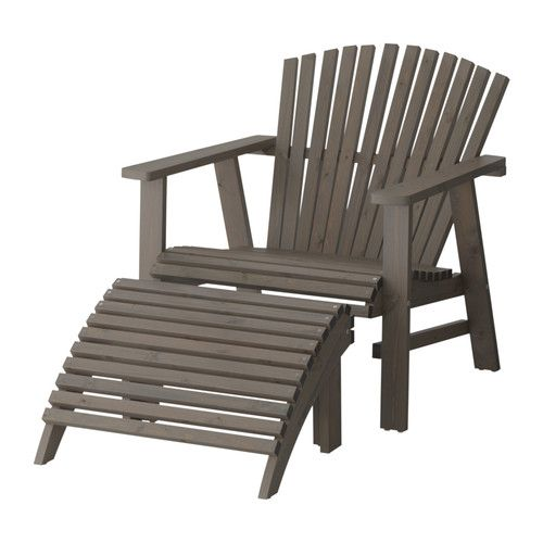 SUNDERÖ Lounger, outdoor, grey stained grey