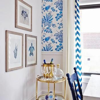 Thibaut Donegal Wallpaper, Contemporary, kitchen, ICI Dulux Natural White, Sarah Richardson Design