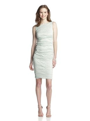 57% OFF Nicole Miller Women's Stretch Crinkle Metal (aqua green)