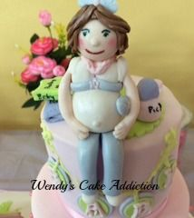 Pregnant lady cake topper as inspired by My Cake School