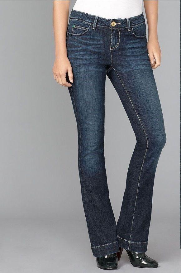 Tommy Hilfiger women's Jeans Freedom Flare Leg cotton spandex dark ...