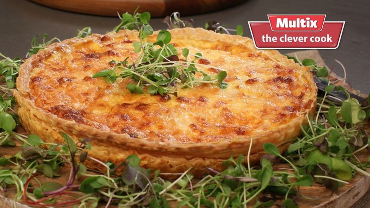 This mouth-watering rich Quiche Lorraine dish is definitely one of the best known food specialities from France, and our version is utterly decadent. Classic quiche lorraine
