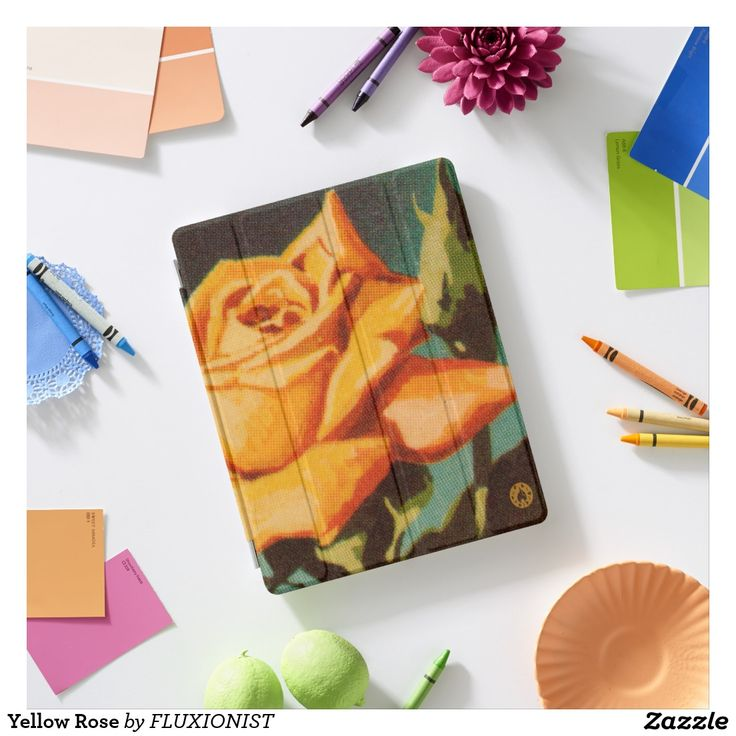 Yellow Rose iPad Smart Cover - $46.00 Made by In a Flash / Design: Fluxionist