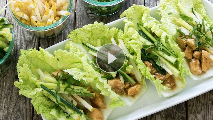 Watch How to Make Peanut-Chicken Cabbage Wraps in the EatingWell Video