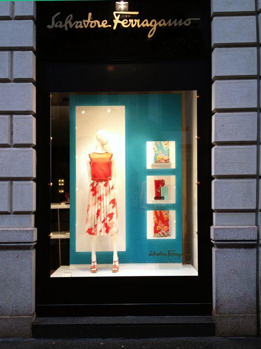 Salvatore Ferragamo SS window 2013, Milano, Lo Studio design www.lostudiodesig...