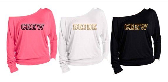 780a23364 Bride Long Sleeve Shirt, Crew Shirt, Off the Shoulder Shirt, I DO Crew  Shirts, Bachelorette Party Shirt, Bridesmaid Shirts, Bride Sweatshirt