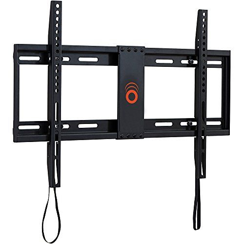 "ECHOGEAR Low Profile Fixed TV Wall Mount Bracket for most 32-80 inch TVs - Holds TV 1.25"" from the Wall - Great for LED LCD OLED and Plasma Flat Screen TVs - EGLL1-BK"
