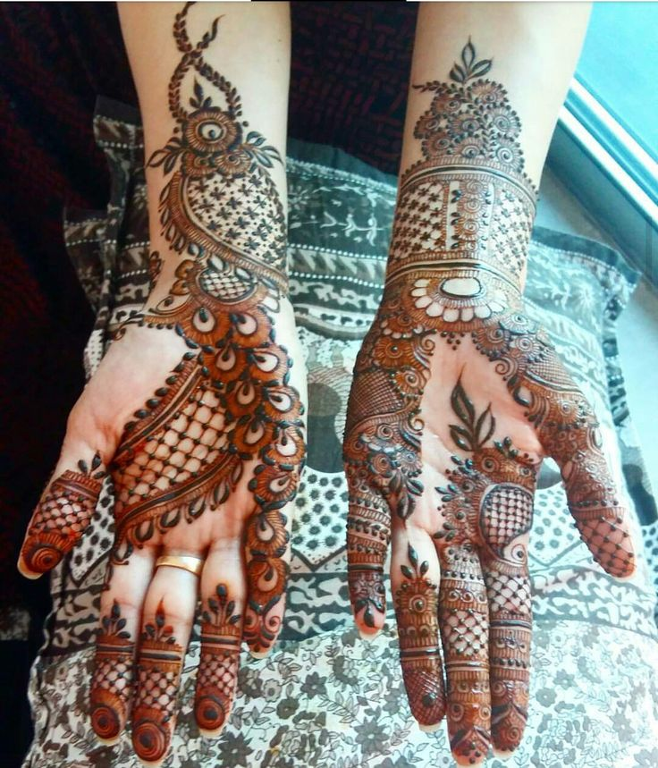 Spaces n leaves henna design