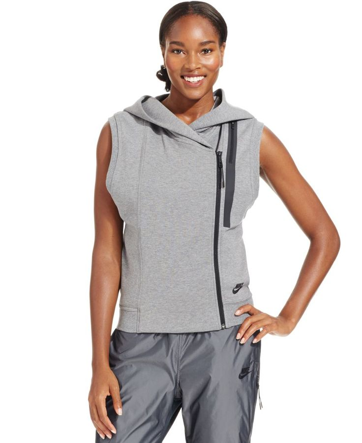 Nike Tech Fleece Sleeveless Zip-Front Hoodie | Fresh to death ...