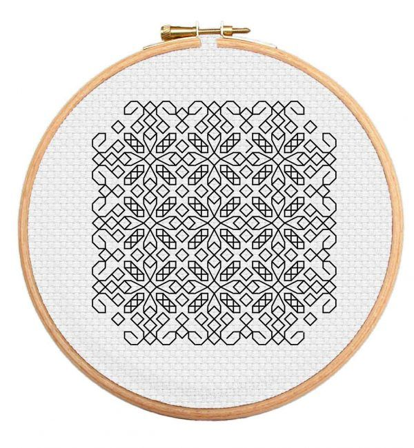 This Twisted Diamonds Blackwork cross stitch pattern is perfect for those moving up their skill levels. https://stitchme.gifts/product/twisted-diamonds-blackwork-cross-stitch-pattern/