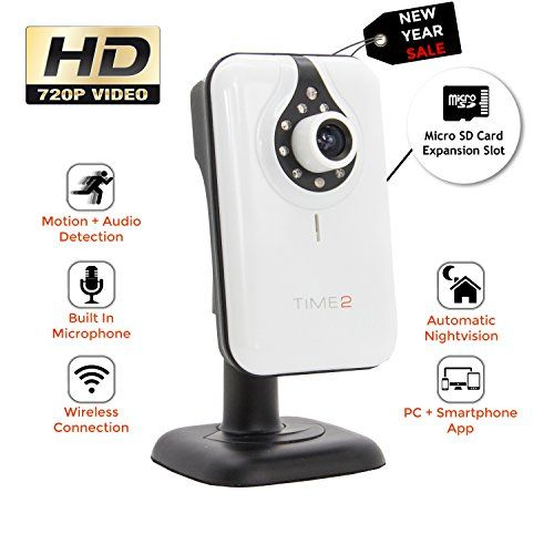 Time2® Wireless WiFi IP Camera - HD Surveillance / Home Security / Pet, Baby Monitor - 64GB SD Card Slot -  No description (Barcode EAN = 0722512220669). http://www.comparestoreprices.co.uk/december-2016-3/time2®-wireless-wifi-ip-camera--hd-surveillance--home-security--pet-baby-monitor--64gb-sd-card-slot--.asp